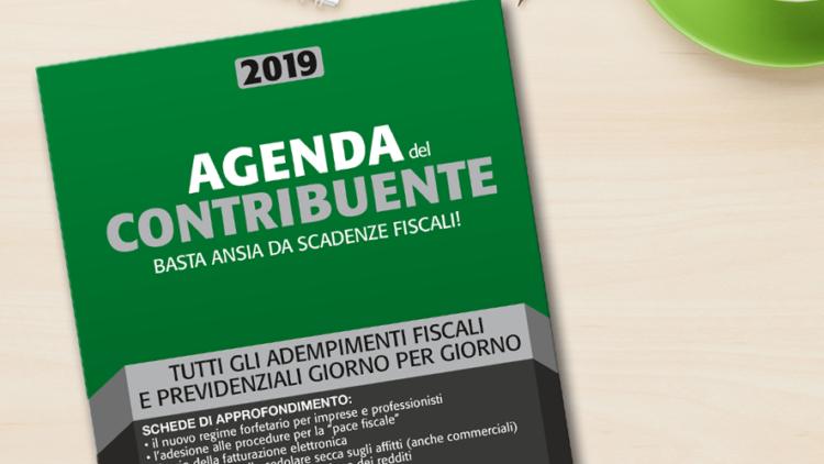 Finalmente disponibile l'Agenda del Contribuente 2019: basta ansia da scadenze fiscali
